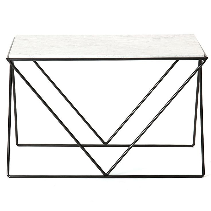 Wrought Iron and Marble End Table by Darrell Landrum — welcome