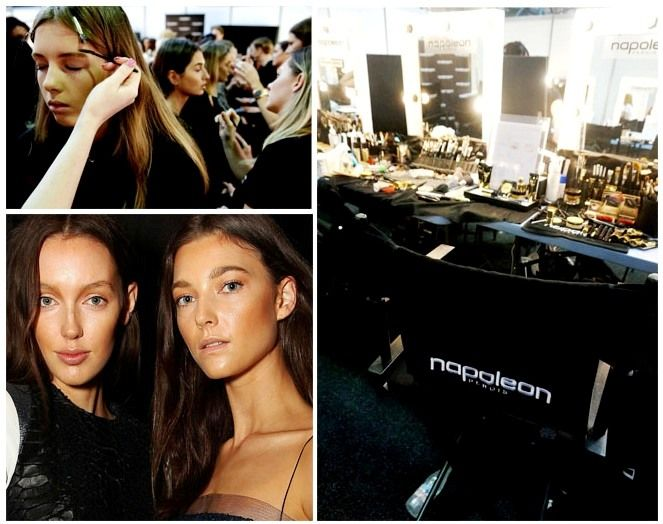 BACKSTAGE AT ALEX PERRY MBFWA 2014 'VARSITY' COLLECTION - MAKE-UP BY NAPOLEON THE OFFICIAL MAKE-UP SPONSOR