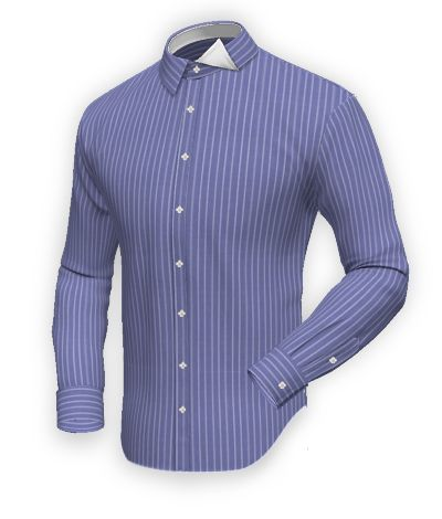 Blue pinstripe shirt in 100% cotton: http://www.tailor4less.com/en-us/collections/custom-dress-shirts/blue-shirt-collection/newport-blue-pinstripe-shirt-in-100-cotton