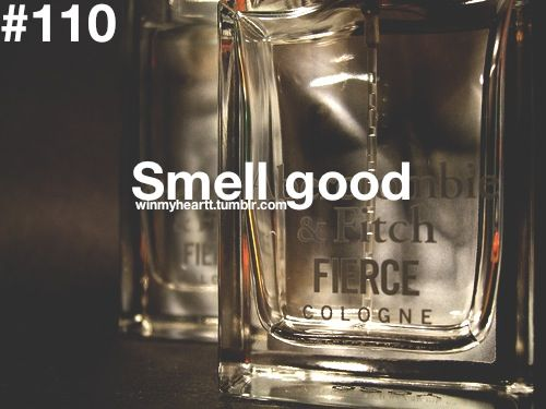 smell good.   p.s.- but does not smell like abercrombie & fitch
