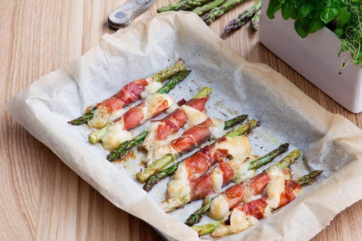 Gillar du sparris, getost och skinka? Här är en toppenförrätt som tar bara några minuter att sno ihop och är försvinnande god.