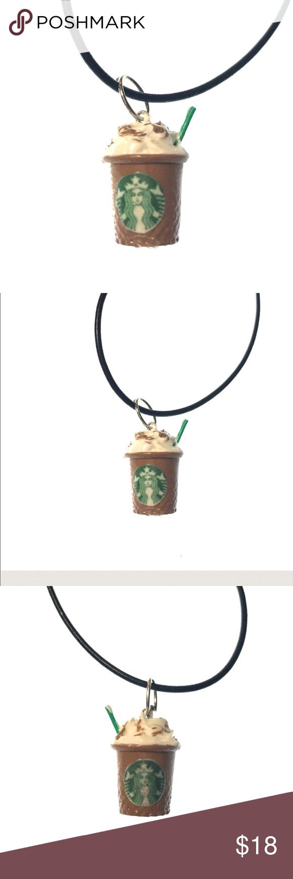 Starbucks handmade coffee necklace Starbucks handmade coffee necklace. Made by me. These take up to three days to finish making so it is properly dried before shipping. Handmade items may differ slightly from the picture as each item is hand crafted and not factory made. Made by me while drinking starbucks coffee lol. Bundle with other items in my closet to save even more. Jewelry Necklaces