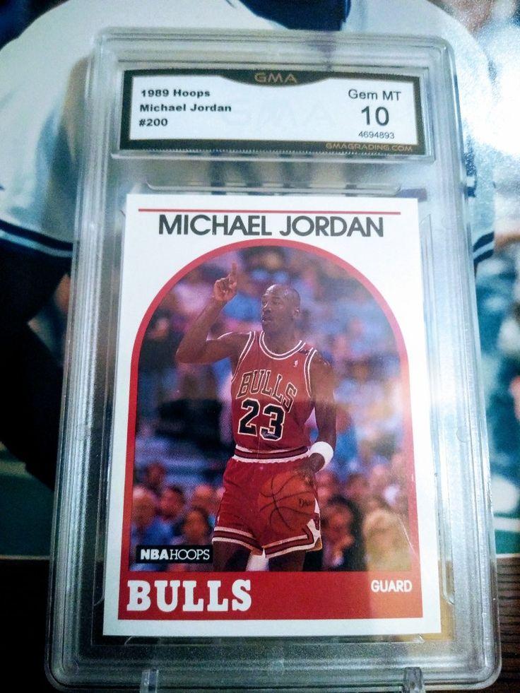 1989 hoops nba basketball michael jordan gma graded 10 in