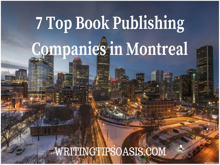 7 Top Book Publishing Companies in Montreal