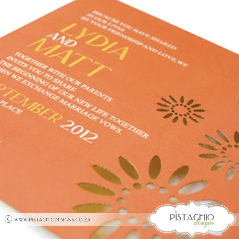 Summer Laser Wedding invitation