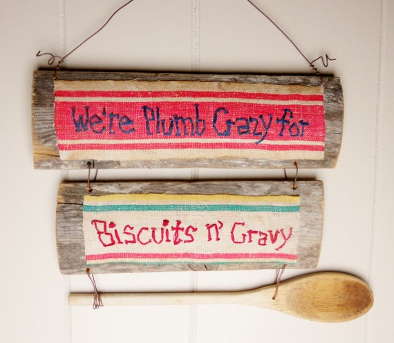 PRIMITIVE Sign for Kitchen on RECLAIMED Wood We're by CornCobCove, $20 ...