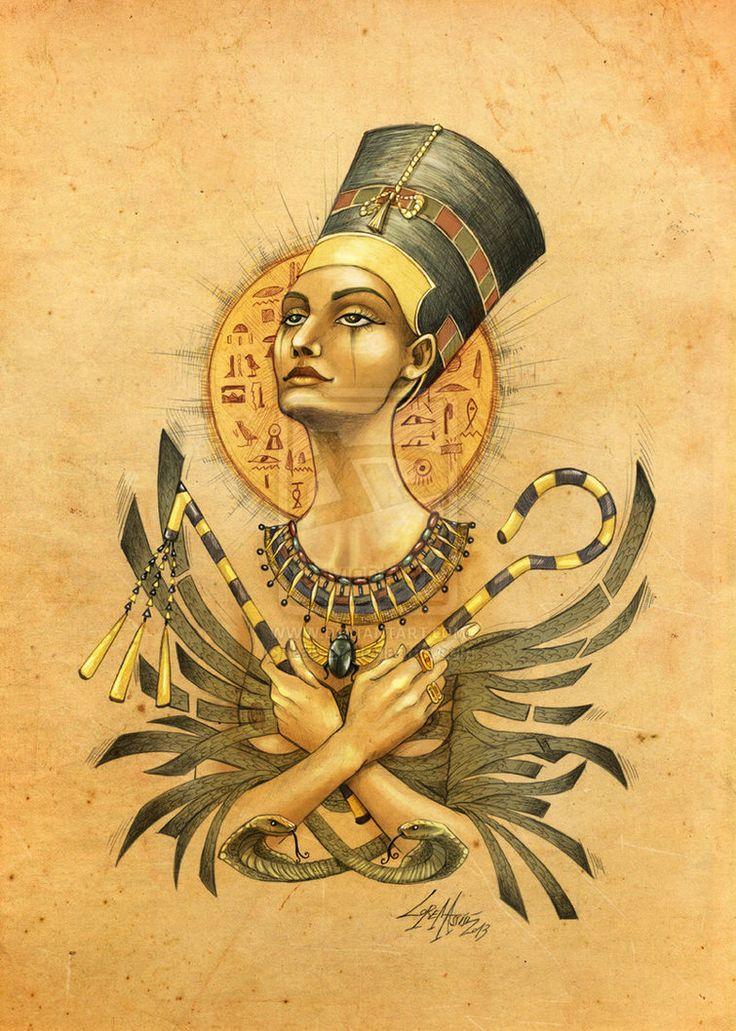 Queen Nefertiti Tattoo: 33 Best Cleopatra Egyptian Queen Tattoos For Women Images