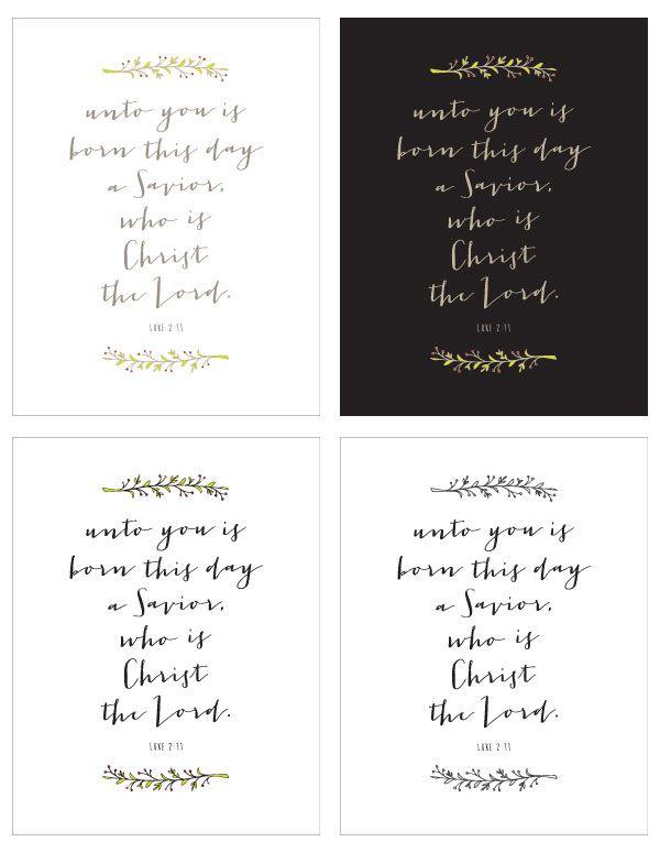 Free Christmas Printables — Unto You Born This Day