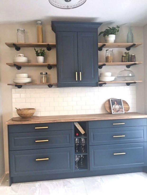 Here's our IKEA painted kitchen cabinets for our custom ...