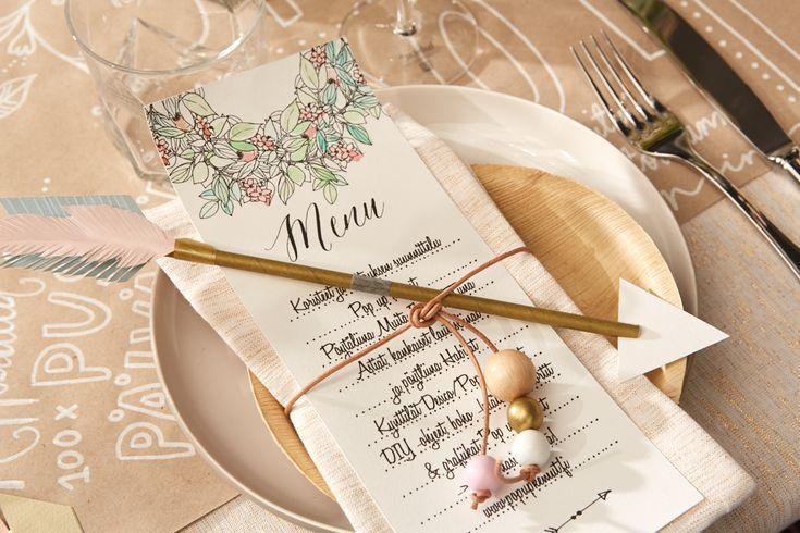 Boho inspired wedding theme/table setting by Pop up kemut | DIY vinkit ja ladattavat @popupkemut.fi