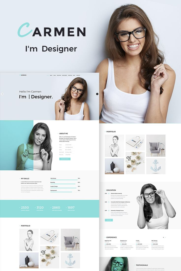 Carmen Design Portfolio WordPress Theme Big Screenshot