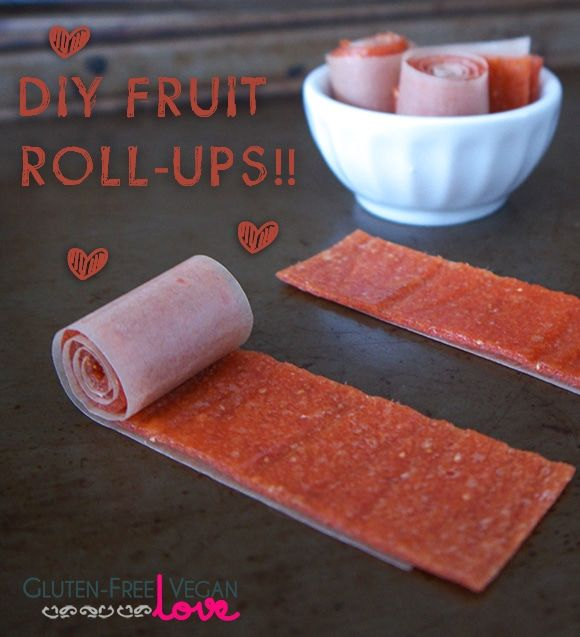 {Gluten-Free, Vegan, Paleo, Raw, Fruit-Sweetened} Fruit leathers are an awesome gluten-free vegan snack. Just perfect for satisfying a sweet tooth with a h