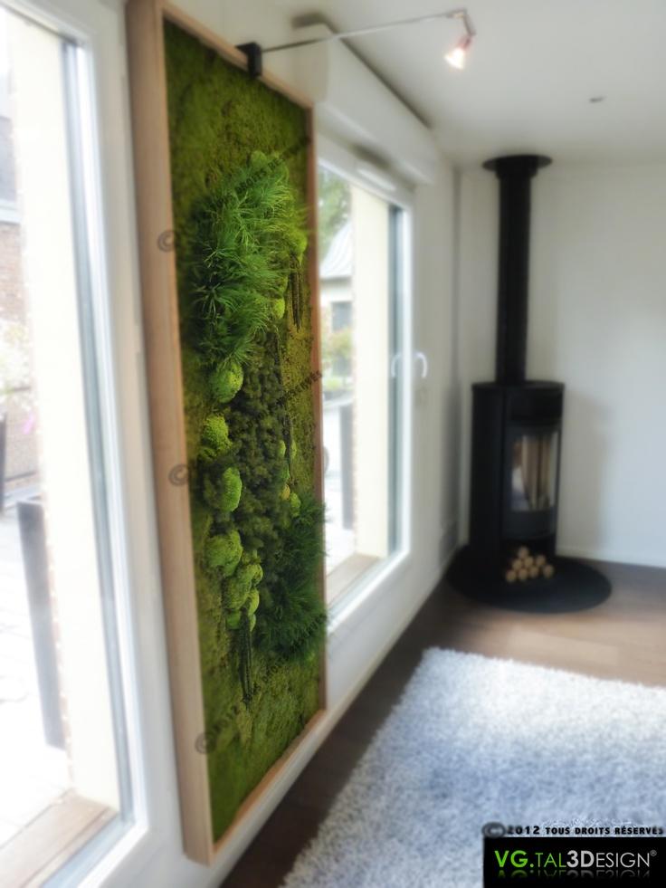 Les 33 meilleures images propos de mur vegetal sur - Kit mur vegetal interieur ...