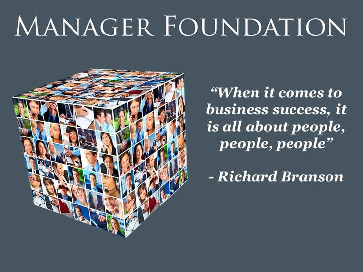 People Make an Organization...