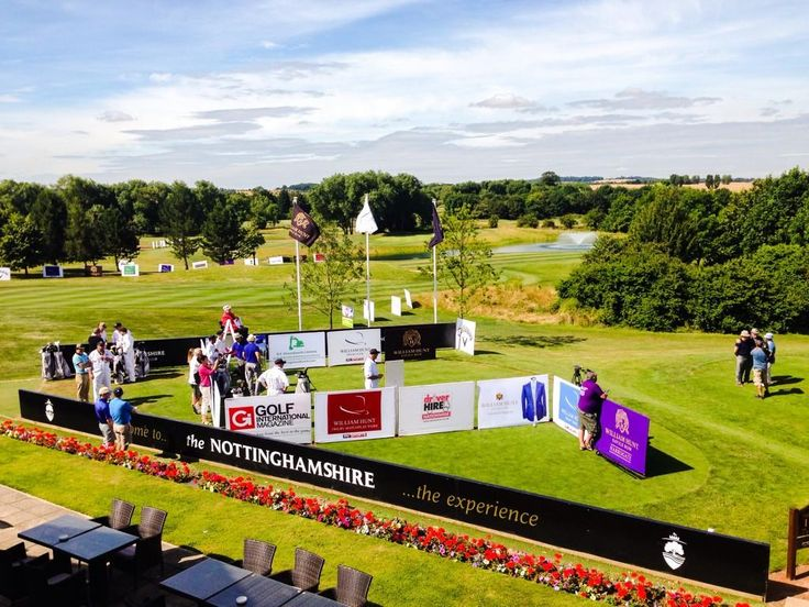 #TrilbyTour at The Nottinghamshire - All set up on the 1st tee