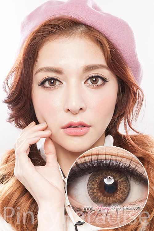 Geo Tri Color Brown Circle Lenses (Colored Contacts)