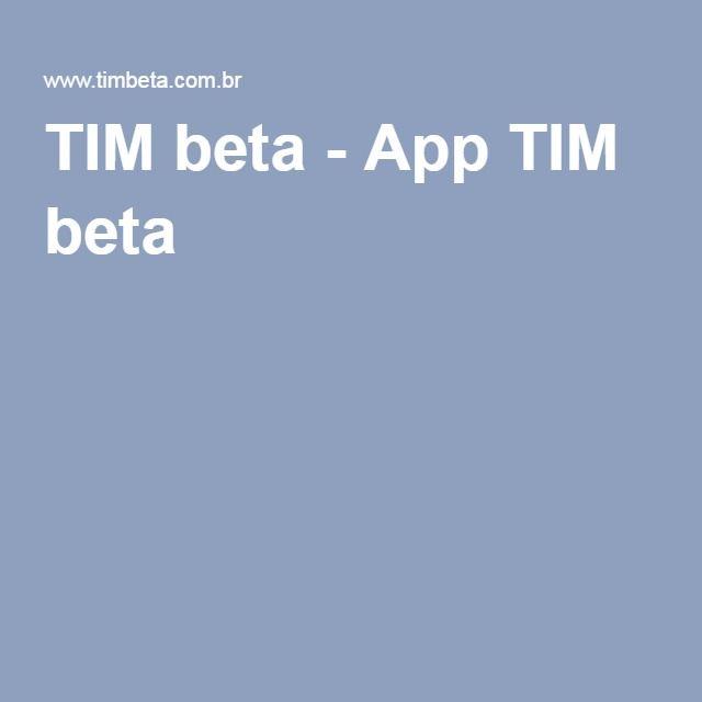 TIM beta - App TIM beta
