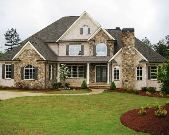 Attirant Atlanta Traditional Exterior Stone And Brick Exterior Design Ideas,  Pictures, Remodel And Decor