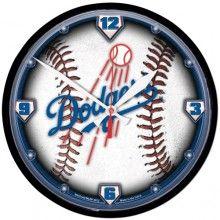 LA Dodgers Baseball Wall Clock