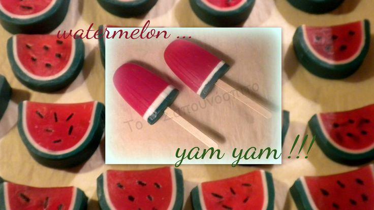 Watermelon ice-cream soap!