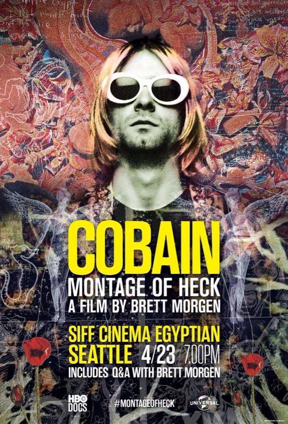 Cobain: Montage Of Heck (2015). Buena edición y muchos detalles personales de este hombre turbado que fue voz de una generación. Le falta fuerza y detalles muchos mas reales de la parte oscura de este hombre.