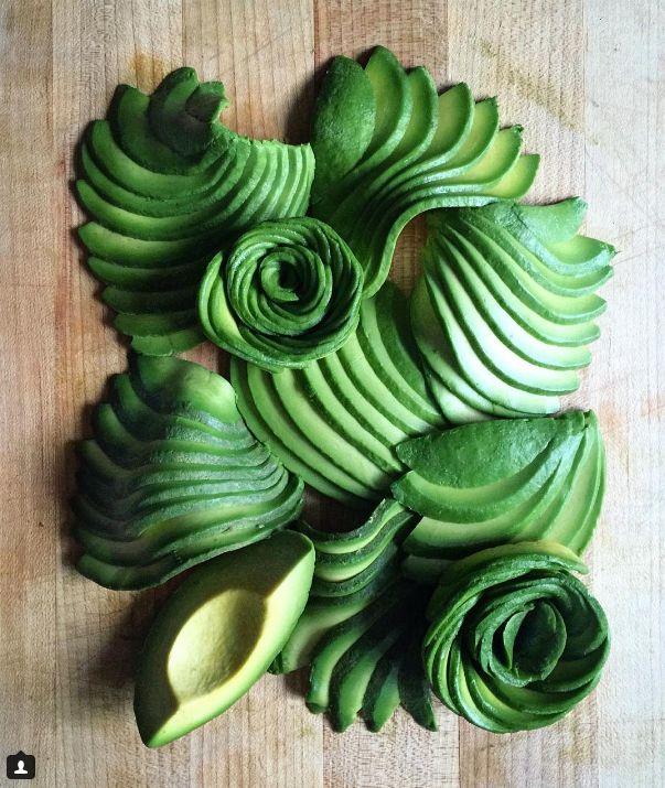 how to make a avocado rose