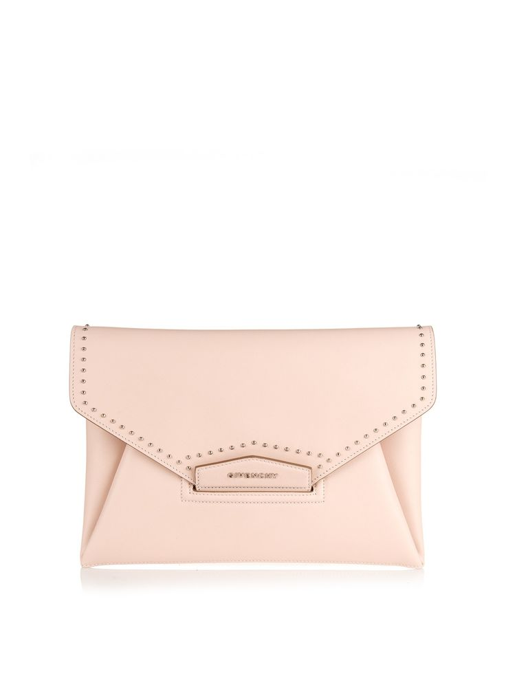 GIVENCHY Antigona Envelope studded leather clutch