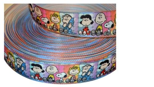 "Charlie and Peanut Cartoon Inspired 1"""" Lovely Grosgrain Ribbon"