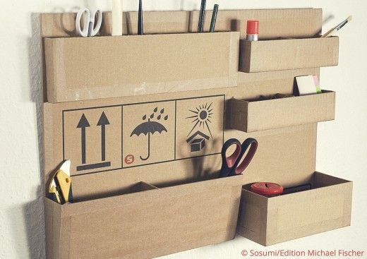 basteln mit karton so geht s upcycling diy cardboard. Black Bedroom Furniture Sets. Home Design Ideas