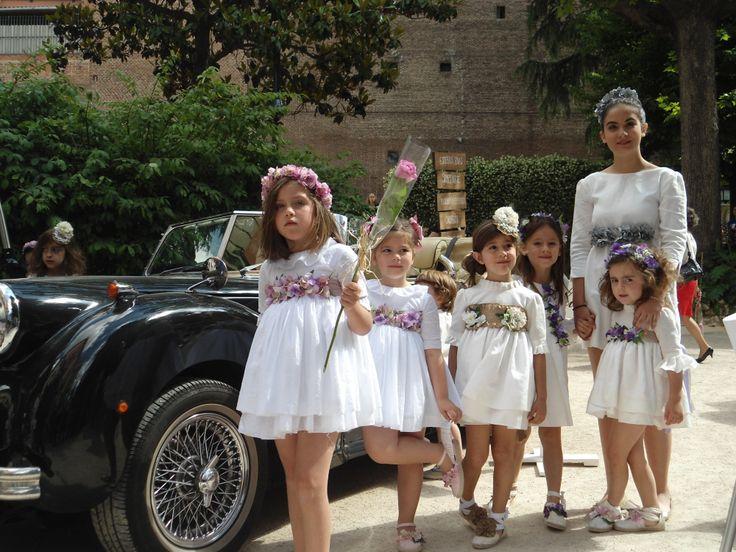 niñas de arras y ceremonia