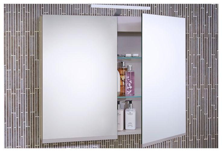 Bathroom mirror cabinet from Utopia Bathrooms.