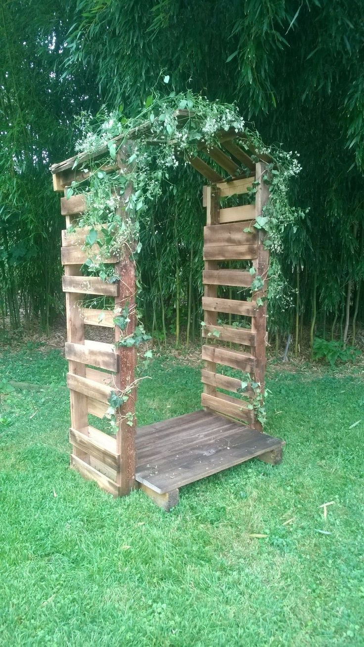35 ideas for pallet projects in the allotment garden # ideas #greening #palet projects – Pailletten Ideen