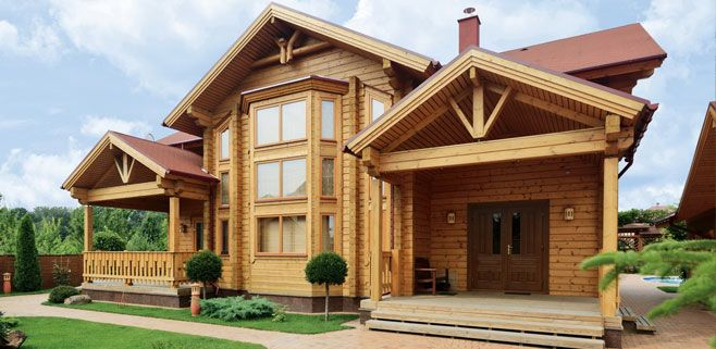Finnish wooden houses from the company «Kontio» Wooden houses