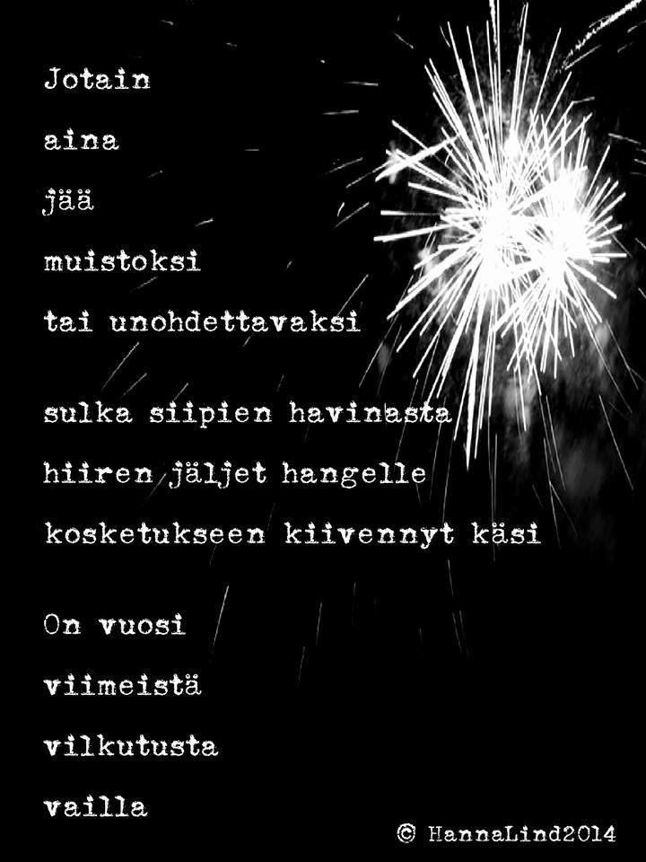 Onnea ja unohtumattomia hetkiä vuodelle 2015!