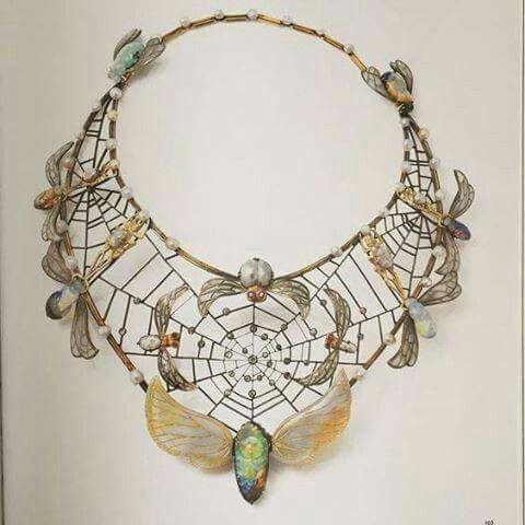 Art Nouveau Necklace by Charles Boutet de Monvel Ca.1900