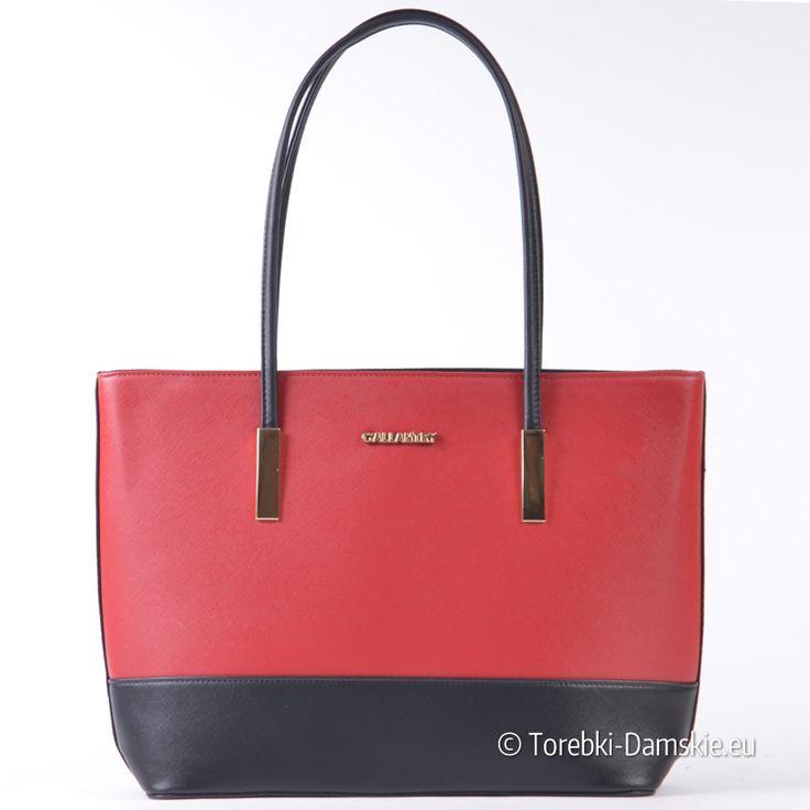 Czerwono - czarna stylowa nowoczesna torba damska A4 na ramię. Lekka, pojemna, z najnowszej kolekcji 2017. Pozostałe zdjęcia tego modelu -> http://torebki-damskie.eu/czerwone/1444-czerwono-czarna-duza-torba-damska-na-ramie.html