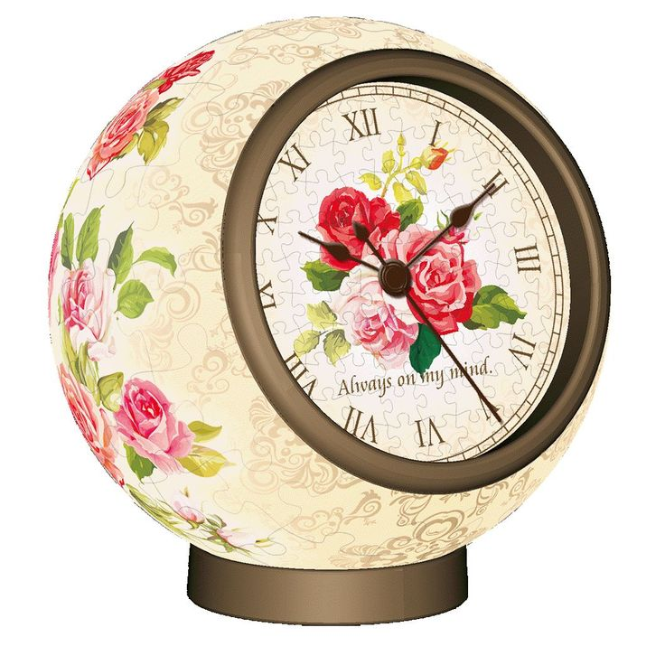 3D Jigsaw Puzzle Working Clock Classic Rose