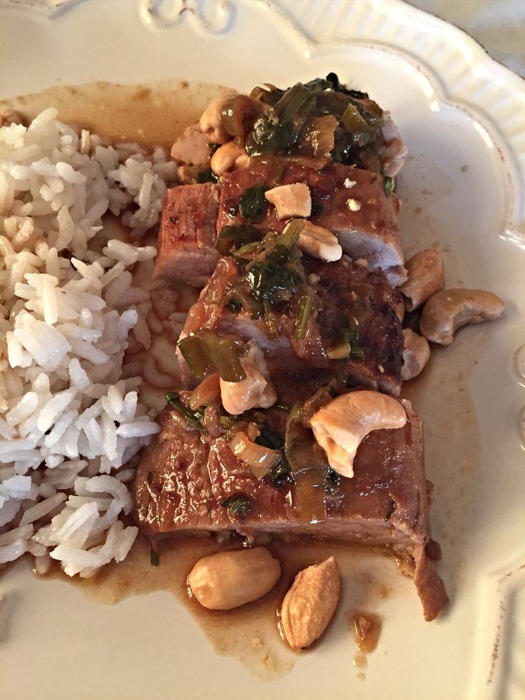 Solomillo Asiático con Castañas de Caju. Receta deliciosa con muchos sabores, fácil y rápida!