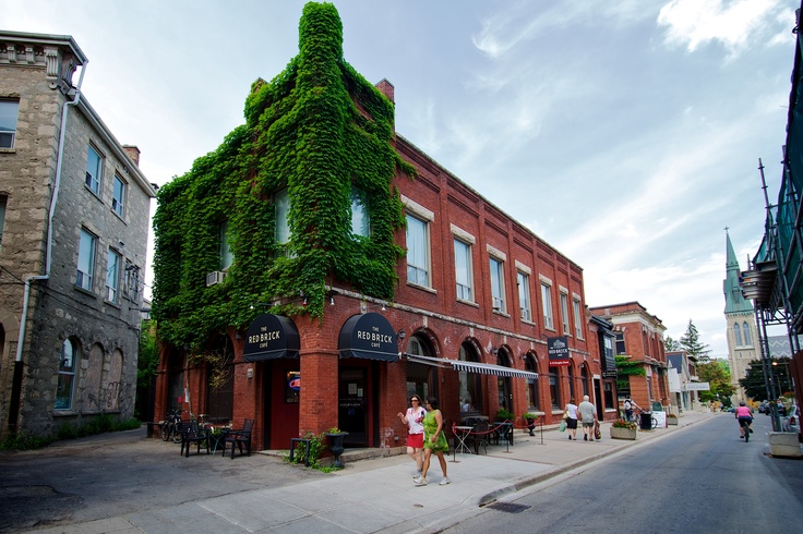 The Red Brick Cafe of Douglas Street Downtown Guelph - Great Food and Drink but also FREE Wi Fi.