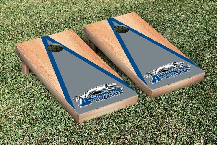 Assumption College Greyhounds Triangle Hardcourt Cornhole Bag Toss Game