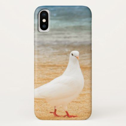 White Pigeon Bird iPhone X Case - photography gifts diy custom unique special