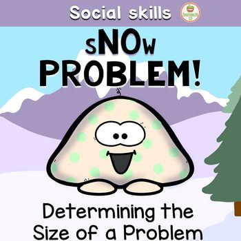 Snow ProblemThis winter themed product will help your elementary students (or those working at this social cognitive level) identify problems, determine the size of a problem and choose a matching emotional reaction.  There are color and black & white printing options along with extension ideas and activities to continue working on these important social skills!