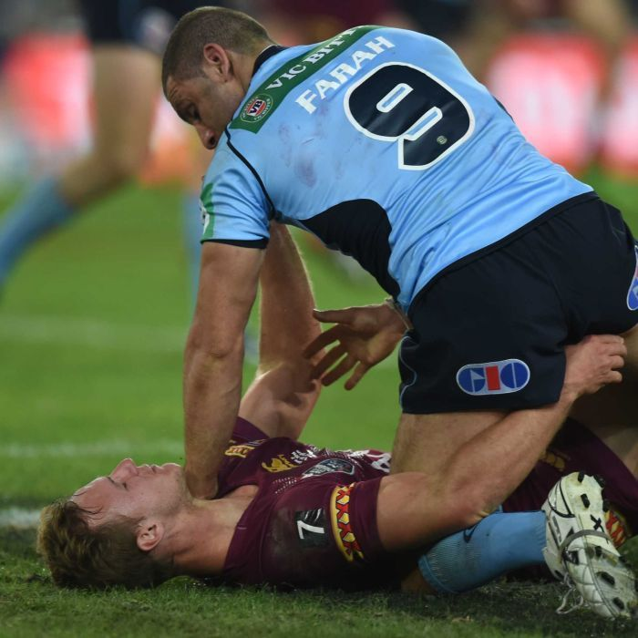 Robbie Farah holds down Daly Cherry-Evans