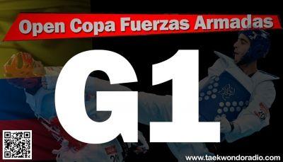G1 de Taekwondo V Copa Fuerzas Armadas Lista de competidores para el día dos - Bogotá, Colombia