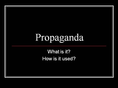 propaganda techniques  by mmaguire via authorSTREAM