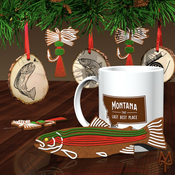 Get your Free Montana fly fishing themed gingerbread cookie designs...just in time for Christmas. Check out the new Montana Treasures blog post. :)