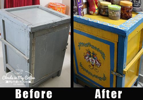 Upcycling my old wooden trunk into a fun, kitschy version! DIY project