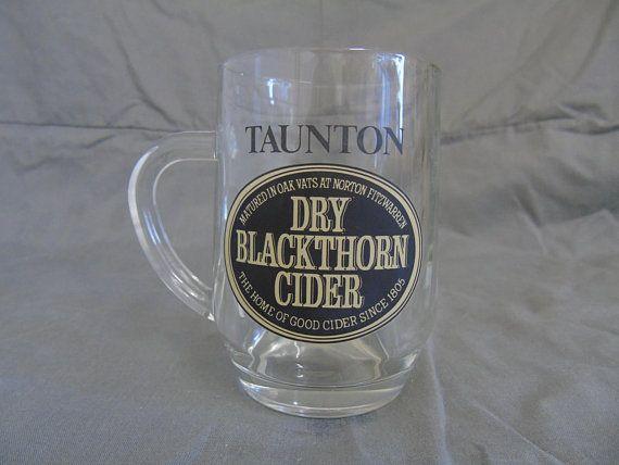 half pint taunton dry blackthorn cider glass crown stamped 2