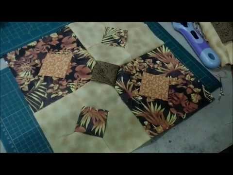 Cómo hacer la Técnica de Espiga (Patchwork) [Tutorial] - YouTube