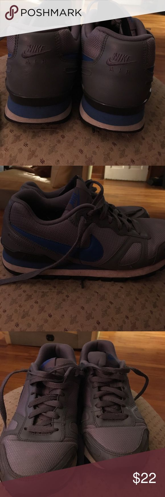 Nike Waffle Trainers men's size 8 Slightly Worn still in tremendously good shape Nike Waffle Trainers grey with blue.  Wicked comfortable. No trades , reasonable offers accepted.  Size 8 Men's I wear women's 8.5-9 so just depends on your foot Nike Shoes Athletic Shoes